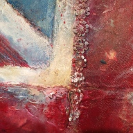 Close- up detail of flag commission